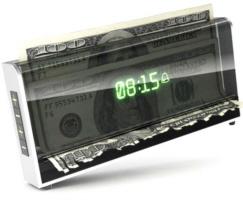 despertador original que picota o dinheiro