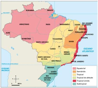 mapa do clima do brasil